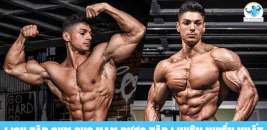 Tham khảo ngay lịch tập gym cho nam được nhiều người tập luyện nhiều nhất nhé!
