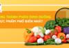 Xây dựng một chế độ ăn lành mạnh của bạn sẽ dễ dàng hơn với bảng thành phần dinh dưỡng 244 thực phẩm thiết yếu hằng ngày dưới đây....