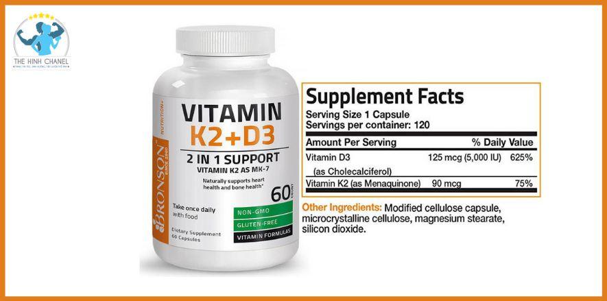 Đặc điểm nổi bật của Bronson Vitamin K2 + D3 :Bạn đang có nhu cầu bổ sung thì chắc chắn không thể bỏ qua Bronson Vitamin K2 + D3 bởi chính chất lượng khi lần...